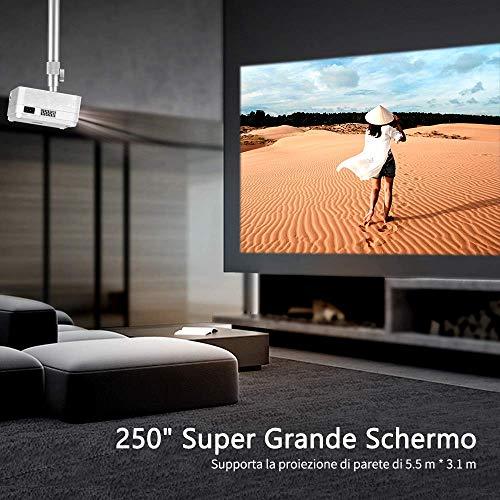 VANKYO PM20 Supporto Proiettore per Staffa a Parete per Montaggio a Soffitto per HD LED Universale per Proiettore di Diverse Dimensioni per Vankyo Proiettore L470C V630 ecc bianco