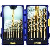 Irwin 10503991 - Juego de brocas con recubrimiento de titanio (de acero rápido, 15 unidades)