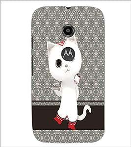 PrintDhaba Kitty D-4769 Back Case Cover for MOTOROLA MOTO E2 (Multi-Coloured)