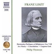 Liszt: 6 Consolations / Ave Maria (Liszt Complete Piano Music, Vol. 4)