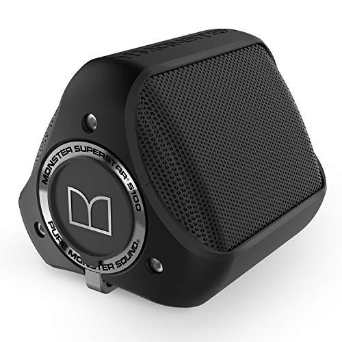 Monster S100-Enceinte portable avec Bluetooth, Noir