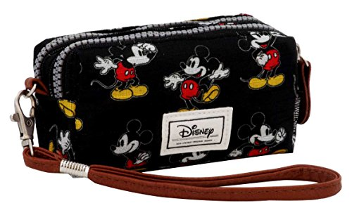 Karactermania Disney Classic Mickey Moving Bolsas de Aseo, 14 cm, Negro