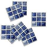 Tianxiu 18pcs Decorativos Adhesivos Diseño De Mosaico Diseño Cenefa Autoadhesivo, para Baño Y Cocina 10cm X 10cm