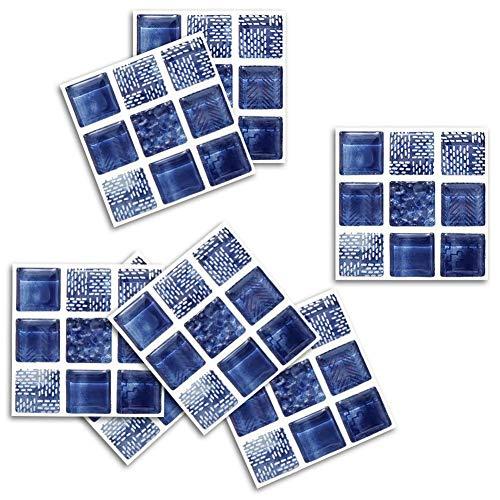 Tianxiu 18pcs Decorativos Adhesivos Diseño De Mosaico