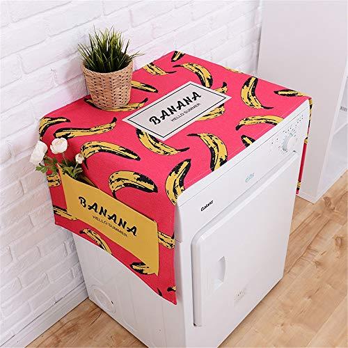 Preisvergleich Produktbild YAzNdom Waschmaschinendeckel Kühlschrank Multifunktionswaschmaschine Obere Abdeckung Kühlschrank Staubschutz Roller Staubschutz Geeignet für die meisten Top- oder Frontlader-Waschtrockner