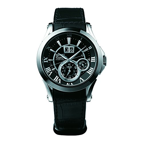 Seiko SNP037P1 Men's Analog Watch - Black Dial