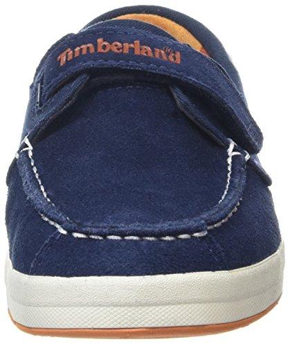 Timberland Unisex Kids    Dover Bay H l BoatBlue Oxford  Blue  Blue Iris Suede with Orange   5 5 UK