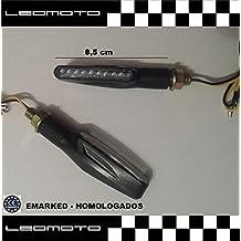 Pareja de intermitentes led homologados. Color: negro (Modelo F12)