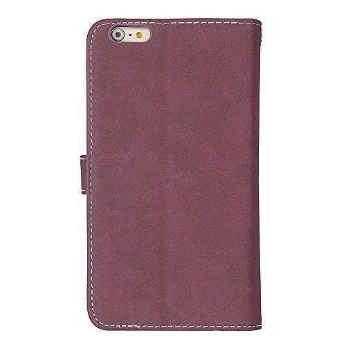 Frosted Style Premium PU Leder Geldbörse Pouch Horizontal Flip Stand Folio Cover Case mit 9 Card Cash Slot & Magnetic Buckle für iPhone 6 Plus & 6s Plus ( Color : Green ) Rose