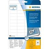 Herma 10003 Universal-Etiketten (A4 Movables/ablösbar Papier matt, 35,6 x 16,9 mm) 2000 Stück weiß