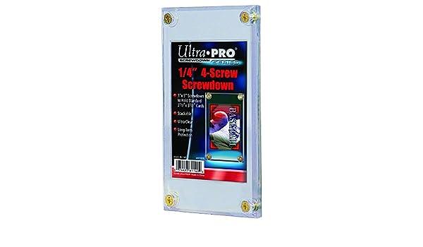 Ultra Pro 1//4 Screwdown Recessed Trading Card Holder