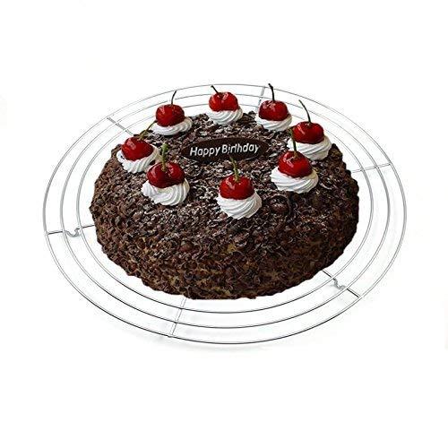 32cm Edelstahl Draht Backen Kuchen Cooling Tray Rack Cookie Kuchen Ovan Brot Pie Muffin Kekse Cooling Grid Ständer Cupcake Net Rack (Backen, Muffin Tray)