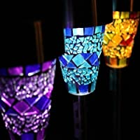 Solar Mosaic Border Garden Post Lights