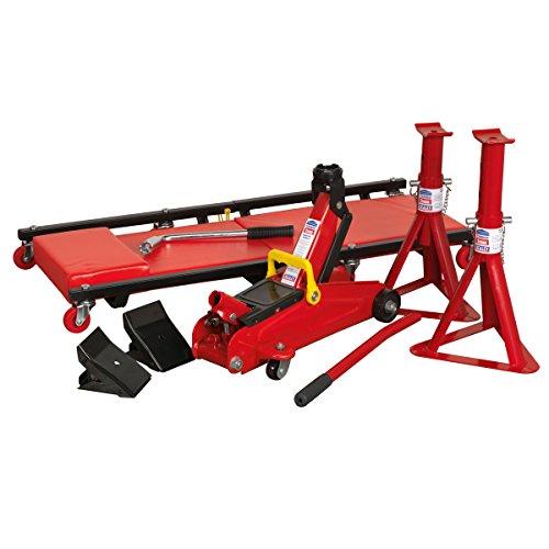 Sealey JKIT01 2 Ton Lifting Kit - Red (5-Piece) Test