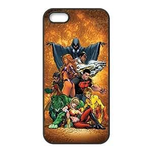 Teen Titans 003 coque iPhone 4 4S Housse téléphone Noir de couverture de cas coque EVAXLKNBC18362