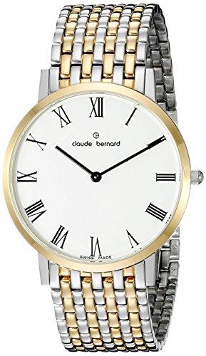 Claude Bernard Men's 20202 357JM BR Gents Slim Line Analog Display Swiss Quartz Two Tone Watch