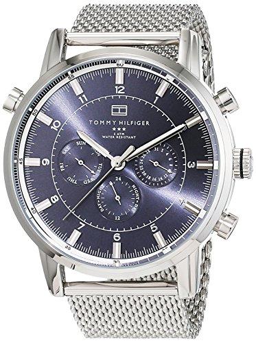 Tommy Hilfiger Watches - 1790877 - Montre Homme - Quartz Analogique - Cadran Gris - Bracelet Acier Argent