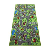 Kids Carpet Playmat City Life Extra Large - Learn & Have Fun Safe, Children