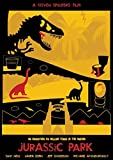 Instabuy Poster Jurassic Park Vintage Affiche - A3 (42x30 cm)