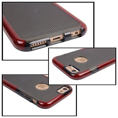 Pour iPhone 6 Plus / 6s Plus, étui protecteur TPU en tricot JING ( Color : Blue ) Red