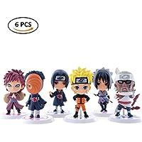 Loheag Clinor Naruto Mini Figur Set, Naruto Sammelfigur Standard Naruto Shippuden Figur - Uzumaki Naruto / Uchiha Itachi / Uchiha Sasuke / Uchiha Obito / Gaara / Kirabi