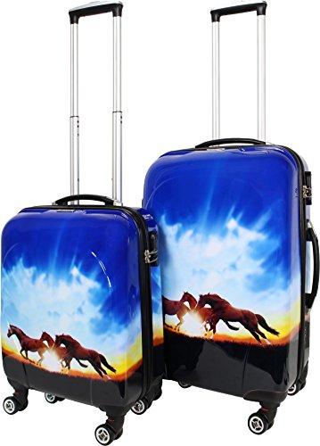 Trolley-Kofferset Ultra-Light mit 4 Rollen, 2tlg. Wild Horses