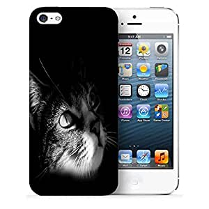 Snoogg Cute Kitty Printed Protective Phone Back Case Cover For Apple Iphone 5 / 5S