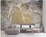 BHXINGMU Wandgemälde Tapete 3D Hölzerne Beschaffenheit Des Nordischen Stils Großes Wohnzimmer Fernsehsofa-Hintergrunddekoration 320Cm(H)×450Cm(W)