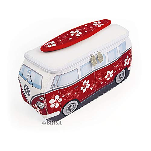 BRISA VW Collection Kulturbeutel Universaltasche im VW Bus T1 Design aus Neopren