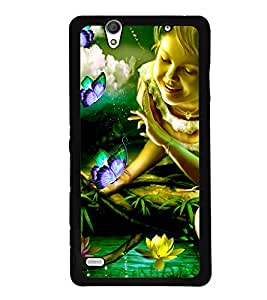 Crazymonk DIGITAL PRINTED BACK COVER FOR SONY XPERIA C4