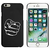 Azeeda Negro 'Dedo Señalador' Funda/Carcasa para iPhone 6 y 6s (MC00167489)
