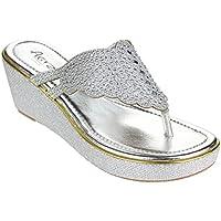 Aarz scarpe tacco delle signore delle donne Sera cuneo casuale sandalo Diamond Formato (oro, champagne, argento)