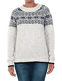 Vero Moda pullover Women Long Sleeve Grey 10185710 VMDEERIE LS O-Neck Blouse NVL Light Grey Mela/W. Snow WH
