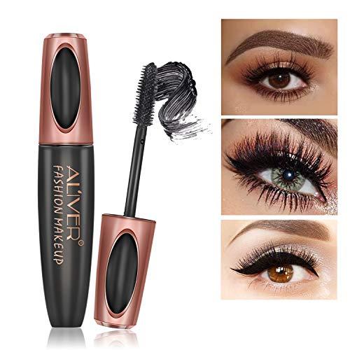 4D Silk Fiber Lash Mascara Waterproof Luxuriously Longer Thicker Voluminous Eyelashes Long-Lasting Dramatic Extension Smudge-proof Paraben-Free Natural & Non-Toxic Ingredients