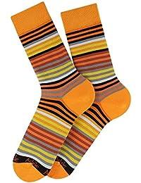 Mi-chaussettes à rayures Norman en coton