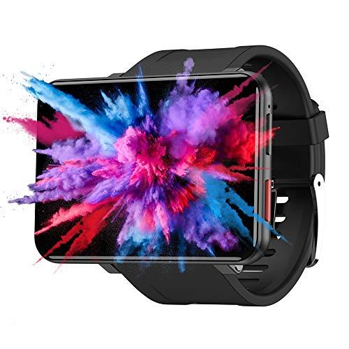 Smartwatches LEMT Smart Watch Android 7.1 3GB + 32GB 2.86Inch Unterstützung 4G SIM-Karte GPS WiFi 2700Mah Batterie Big Men, Black3g32g