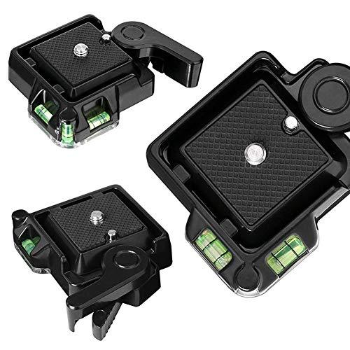 Biback Kamerastativköpfe für QB-40 Kamera Heavy Duty Video Stativ Schnellwechselplatte für Spiegelreflexkameras und Dreibeinstativ (Heavy-duty-video-stativ)