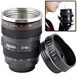 Velkro Creative Camera Lens Mug Double Wall Automatic Self Stirring Mug Mixing Tea Coffee Drinking Cup