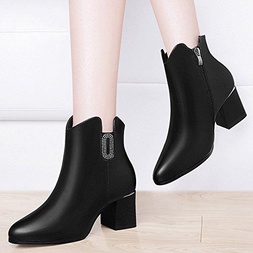 Moda Velluto Boots Wild Stivali Il Nera Alla Da Punta Autunno E Plus Heeled In Donna Breve 39 35 Ajunr Di Inverno Marea Peluche Caldo High Piccolo Calda Snow Scarpe BvTCxqtwI