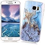 Coque Samsung Galaxy S7 EDGE XiaoXiMi Etui en Marbre Texture Housse de Protection Soft TPU Silicone Case Cover Coque Flexible Lisse Etui Ultra Mince Poids Léger Housse Anti Rayure Anti Choc pour Samsung Galaxy S7 EDGE - Modèle de L'océan