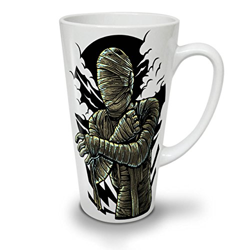 Mumie Zombie Tot Horror WeißTee KaffeKeramik Kaffeebecher 17   Wellcoda