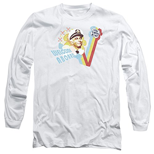 Love Boat - Herren Welcome Aboard Langarm-T-Shirt White