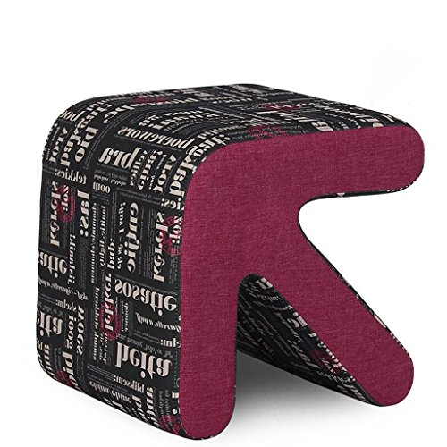 Xuan - Worth Having Bas Noir Alphabet Motif Solide Bois flèche Tabouret Chaussures Chaussures en Cuir canapé Tabouret (Taille : 40 * 36 * 40cm)