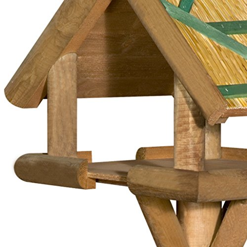 Rustic Luxury Thatched Bird Table From The Hutch Company