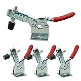 Imagine - Set di 4 pz, utensile a mano con pinza a morsetto 201B, 90 kg, capacità di tenuta antiscivolo orizzontale a sgancio rapido, attrezzo a levetta per attrezzi pesanti
