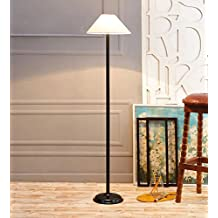 Off White Khadi Cotton Stick Floor Lamp /Standing Lamp By New Era For Living Room /Drawing Room/Office/Bedroom/Decoration /Corner/Gift/Lobby