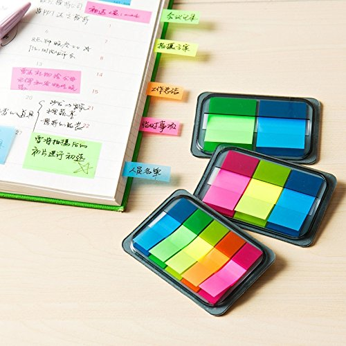 Caxmtu memo Pad autoadesiva Candy color Sticky notes Bookmark punto Paper 3-pieces