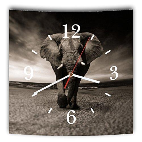 Wanduhr Motiv: Elefant