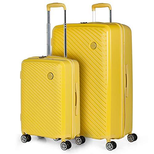 ITACA - Maletas de Viaje Rígidas 4 Ruedas Trolley ABS. Cómodas Prácticas y Ligeras. Equipaje de Mano. Pequeña Cabina, Mediana. Grande XL y Juegos Bonito Diseño.