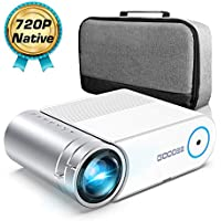 "Mini Projector, GooDee 4000 Lumens Portable HD G500 Video Projector 200"" Display 1080p Supported LCD Home Movie Projector Compatible with TV Stick HDMI VGA Av USB Micro SD"